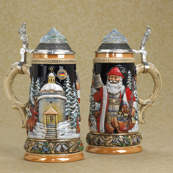 German beer stein with Christmas tree @ Beer Steins