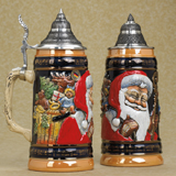 German stein Old World Santa