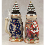 German beer stein with Christmas tree