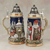 German beer stein Santa Silent Night