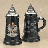 German black eagle with States beer stein