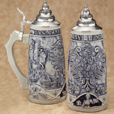 Deutschland blue traditional stein