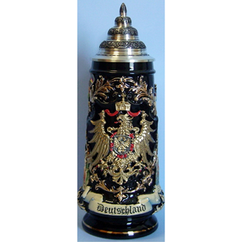 German beer stein gold eagle