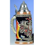 German stein Deutschland with flag