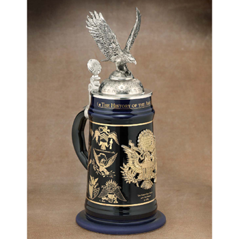History of the American Eagle beer stein