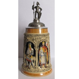 German Crusaders stein