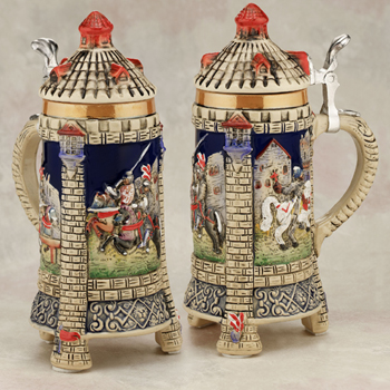 German beer stein castle
