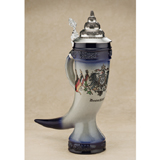 Old Germany horn beer stein