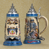 German beer stein police officer